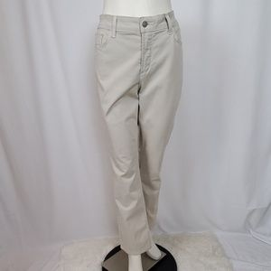 NYDJ Tan Denim Twill Straight Leg Jeans